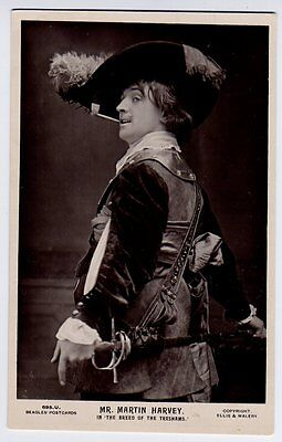 Martin Harvey - Actor Real Photo Beagles Postcard in The Breed Of The Treshams
