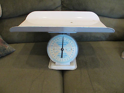 Vintage Retro Baby Scale 50's 60's American Family Pink Blue 30 Lbs. Photo Op