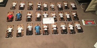 27 Genuine Hand Signed Bayern Munich Clubcards. W/ Bayern Official COA/Note!