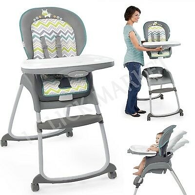 Baby High Chair Convertible Table Seat Booster 3 in 1 Toddler Feeding Highchair