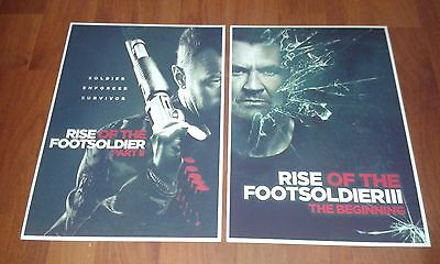Rise Of The Footsoldier Ii & Iii Movie Posters. New. A4 Size. Pat Tate. Carlton.