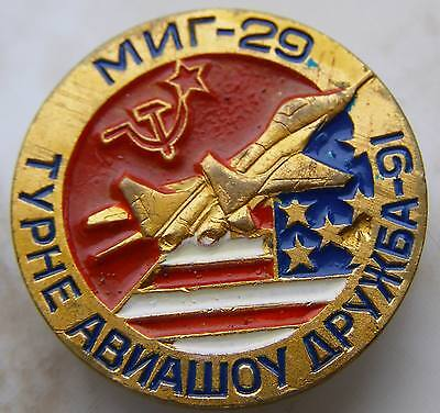 MiG-29 Fulcrum USA Air superiority fighter aircraft Russian Soviet Pin Badge