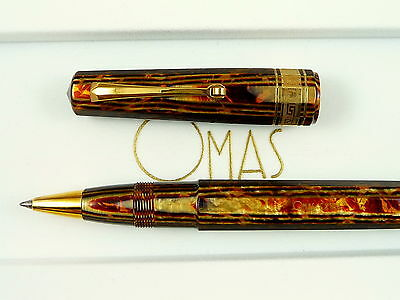 Omas Bronze Arco Paragon Faceted Rollerball, Excellent, new refill