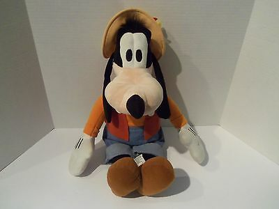 "NWT Disney Parks 20"" Gone Fishing GOOFY Soft Plush Lovey Character"