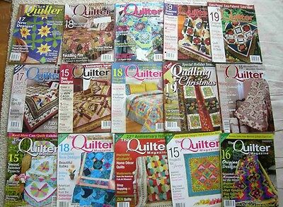"""Lot Of 15 Back Issues Of """"the Quilter Magazine"""""""