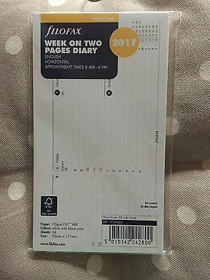 Filofax 2017 Personal Diary Week On 2 Pages Horizontal Refill 17-68420