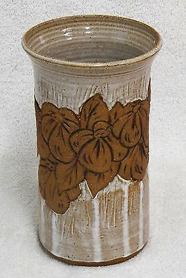 JS Pottery Sexton Lowell NC 9 Inch vase                          nb77