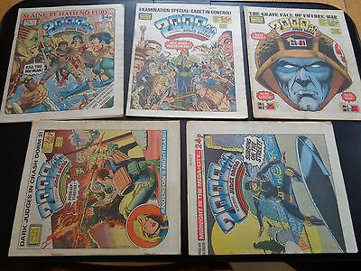 2000AD progs 420, 421, 422, 423, 424 - 5 comic collection