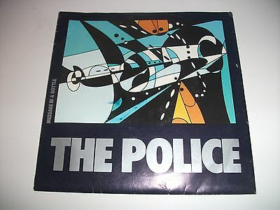 """VINTAGE The Police """" Message in a Bottle"""" 45 With Poster RARE"""