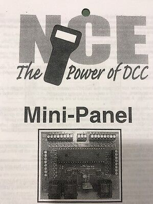 NCE DCC Mini Panel Control board with case