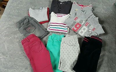 lot 12 vêtements fille 4 ans