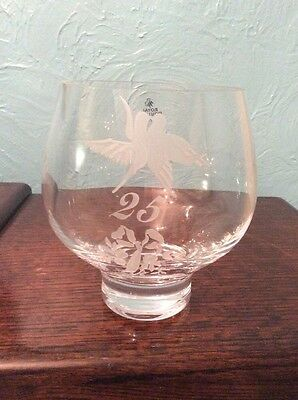 Royal Doulton  Hand Made Bowl Vase Engraved 25 (silver Wedding) Doves Beautiful