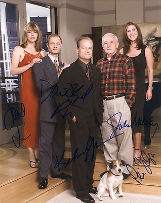 Frasier TV Series Hand Signed By All Cast Of All 5 10x8 !