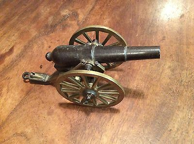 19th Century Iron And Brass Model Cannon