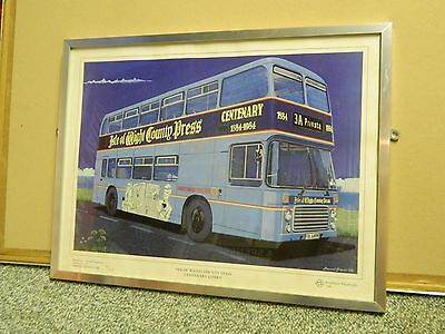 Limited Edition 50 of 1000 Southern Vectis Bus Framed Poster Transport