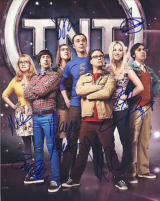 The Big Bang Theory Hand Signed Cast Of 7 Promo 10x8 !