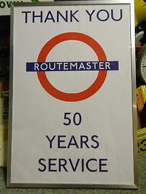 Thank You Routemaster 50 Years Service Large Bus Framed Poster Transport