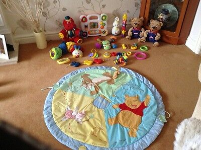 Large Baby Toy Bundle with play mat