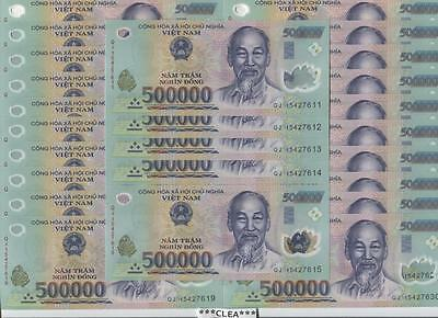 10 MILLION CRISP Vietnam Dong 20 x 500,000 500000 UNCIRCULATED Currency NEW VND