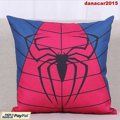 Funda De Cojin De Spiderman Cushion Cover (Colgante Batman Thor Iron Man Hulk)
