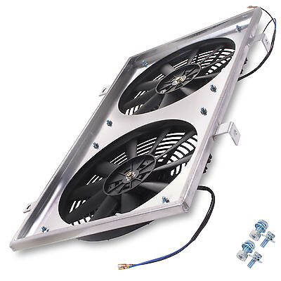 Aluminium 12V 80W Electric Twin Fan Shroud For Nissan 180Sx S13 Ps13 2.0 Sr20Det