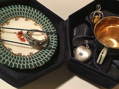 Beautiful Antique Collection, Solid Silver Trinkets & Cased Cup&Saucer FreeUKP&P