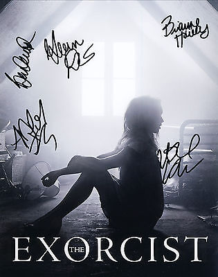 The Exorcist TV Series Hand Signed By Cast Of 5 10x8 !