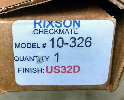Rixson Checkmate 10-326 Surface Adjustable Overhead Stop With Hold Open US32D