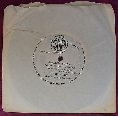 "Sacred Songs – The Holy City 7"" – BCM Records 07475 – VG   BUY 2+ for 25% OFF"