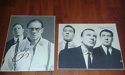The Kray Twins. 2 Large Signed Pictures. East End Gangster. Legend. Tom Hardy.