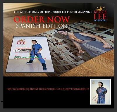 """Pre Order Bruce Lee Forever """"The Warrior"""" Special Spanish Edition + Bonus Pic"""