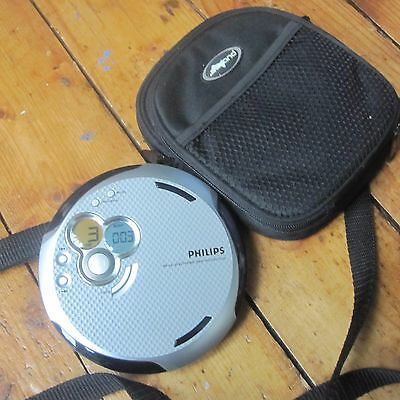 Philips AX5301 Personal Portable CD Player Discman Silver Antishock Case Tested