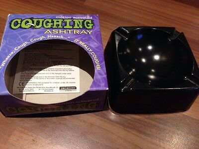 Novelty Motion Activated Coughing Ashtray - Boxed -