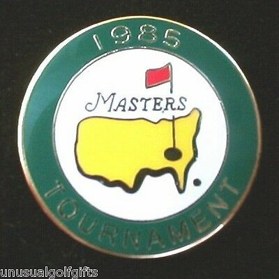 Original Masters 1985  Enamel Stem Golf Ball Marker Extremely Rare