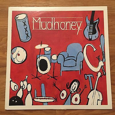 "Mudhoney: Let It Slide (Rare 10"" Blue Vinyl EP Record) 1991 Limited Pressing EX"
