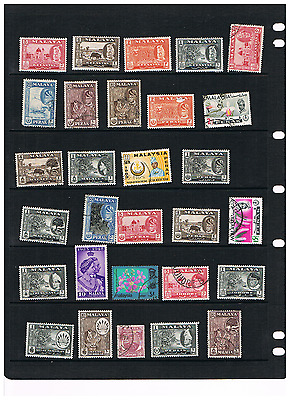 malaya  stamp smsll  collection