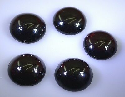 Garnet cabochon Red Round gems 15x15 1 pc