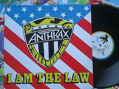 Anthrax – I Am The Law  Island Records 12 IS 316  UK Vinyl 12inch Maxi-Single