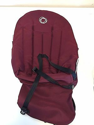 Bugaboo Frog Seat Stroller Carriage Maroon Canvas Baby Toddler Children Travel