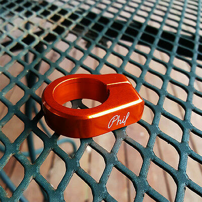 Phil Wood ORANGE Seat Post Collar Clamp 30mm USA Made! MTB CYCLOCROSS ROAD RACE