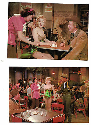 """5 Postcards showing Scenes from """"Bus Stop"""" starring Marilyn Monroe"""
