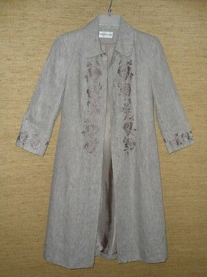 Embroidered linen coat from M&S Autograph, size 12