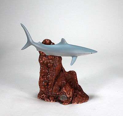 BLUE SHARK Statue New direct from JOHN PERRY 9in long Sculpture Art Figurine