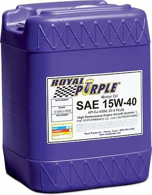 Royal Purple 5154 Multi-Grade Motor Oil Sae 15W40 Cj-4 5 Gal. Pail