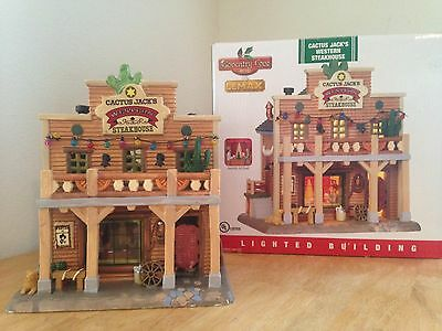 LEMAX Coventry Cove  - CACTUS JACK'S WESTERN STEAKHOUSE - 2012 Lighted Scene EUC