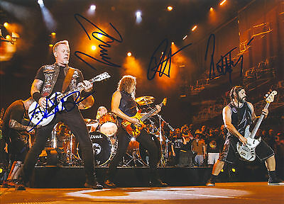 """Metallica Hand Signed By Band """"Tour Promotional"""" 11x8 !"""