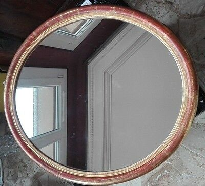 ANTIQUE FRENCH OVAL mirror GOLD WOODEN FRAME 19TH 1880 louis Philippe