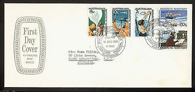 1966 AAT- Macquarie Island base cancel on large AP cover with 5 stamps to 25c.
