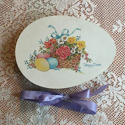 VTG Easter Chocolate Egg Candy Box Card Board Paper Lee's Candies US 11""