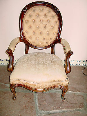 Antique Victorian Parlor Chair
